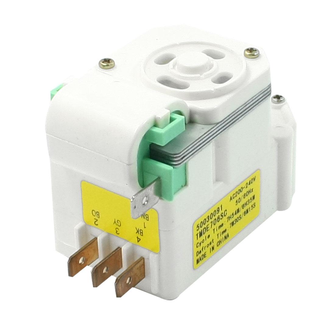 TMDE706SC Type 4 Pin Connector Refrigerator Defrost Timer AC200V/240V 50/60Hz