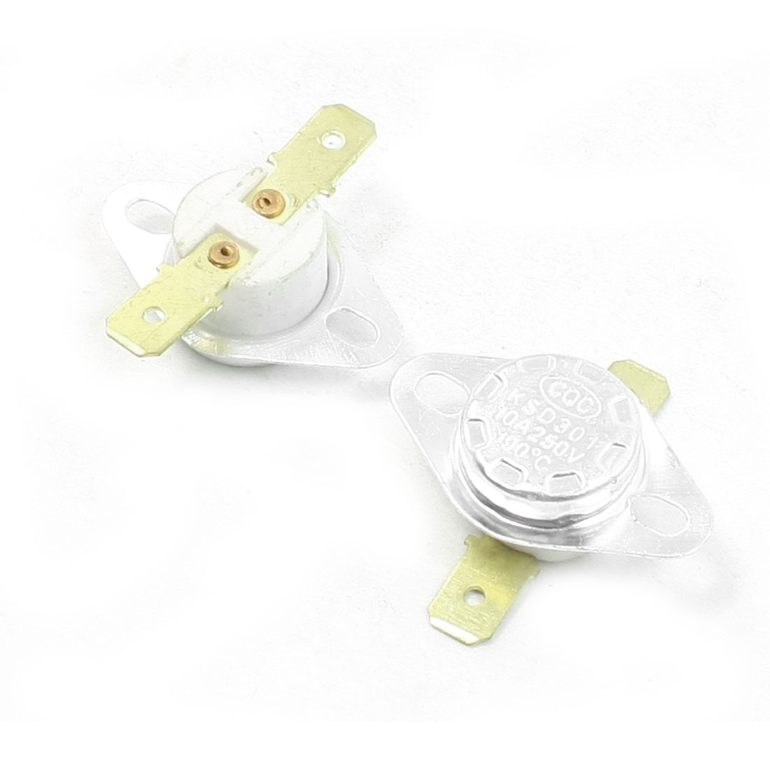 250VAC/10A 190C NC Ceramic Temperature Controller Thermostat KSD301 2 Pcs