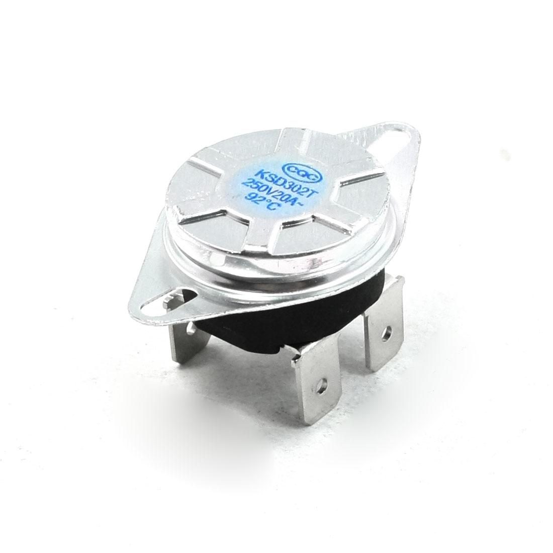 92 Celsius NC. KSD302T Model Temperature Controller Thermostat AC 250V 20A