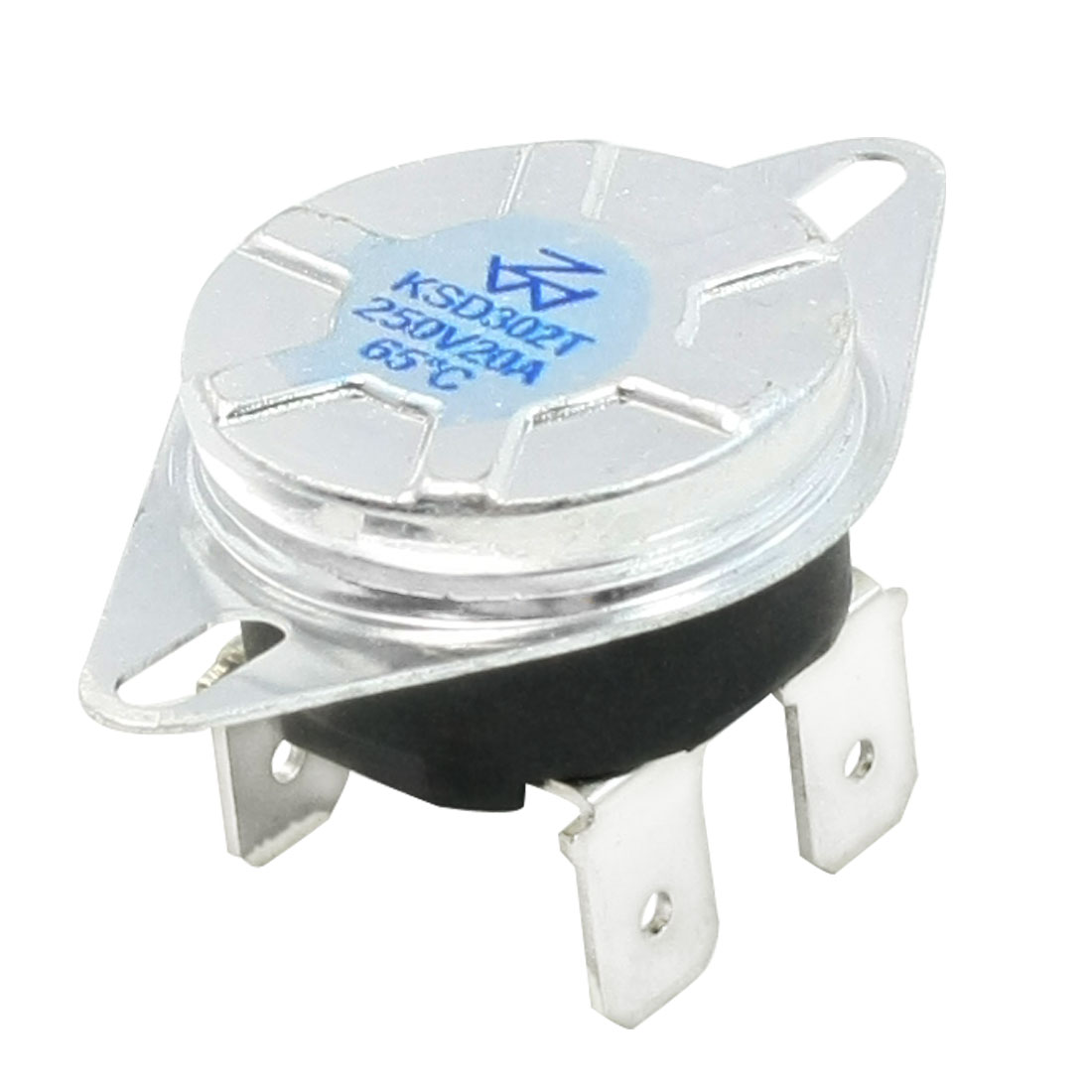 AC 250V 20A N/C 4 Pin Terminals 65C Temperature Control Switch Thermostat
