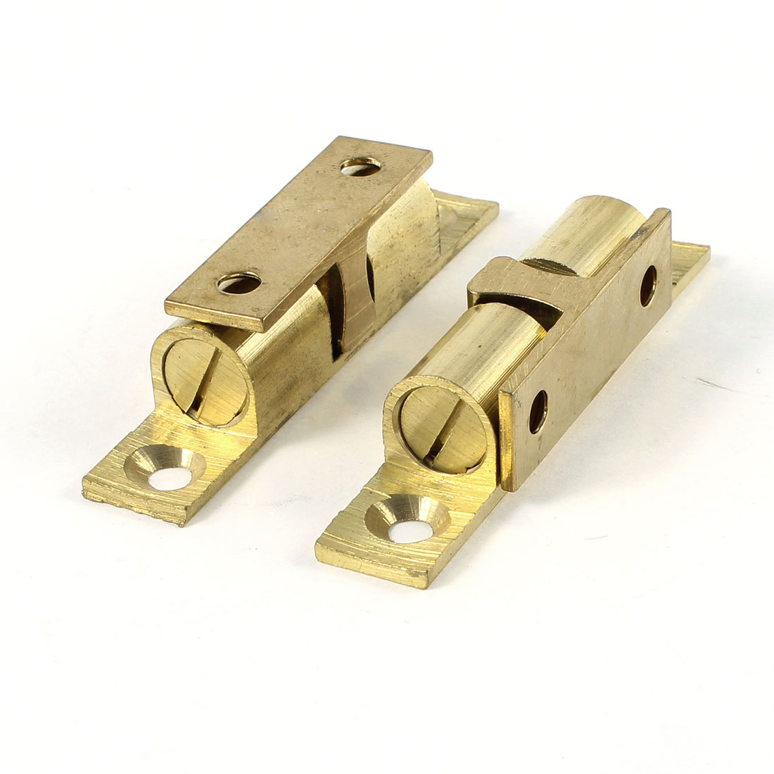 2PCS Cupboard Cabinet Door Brass Double Ball Catch 60mm Length