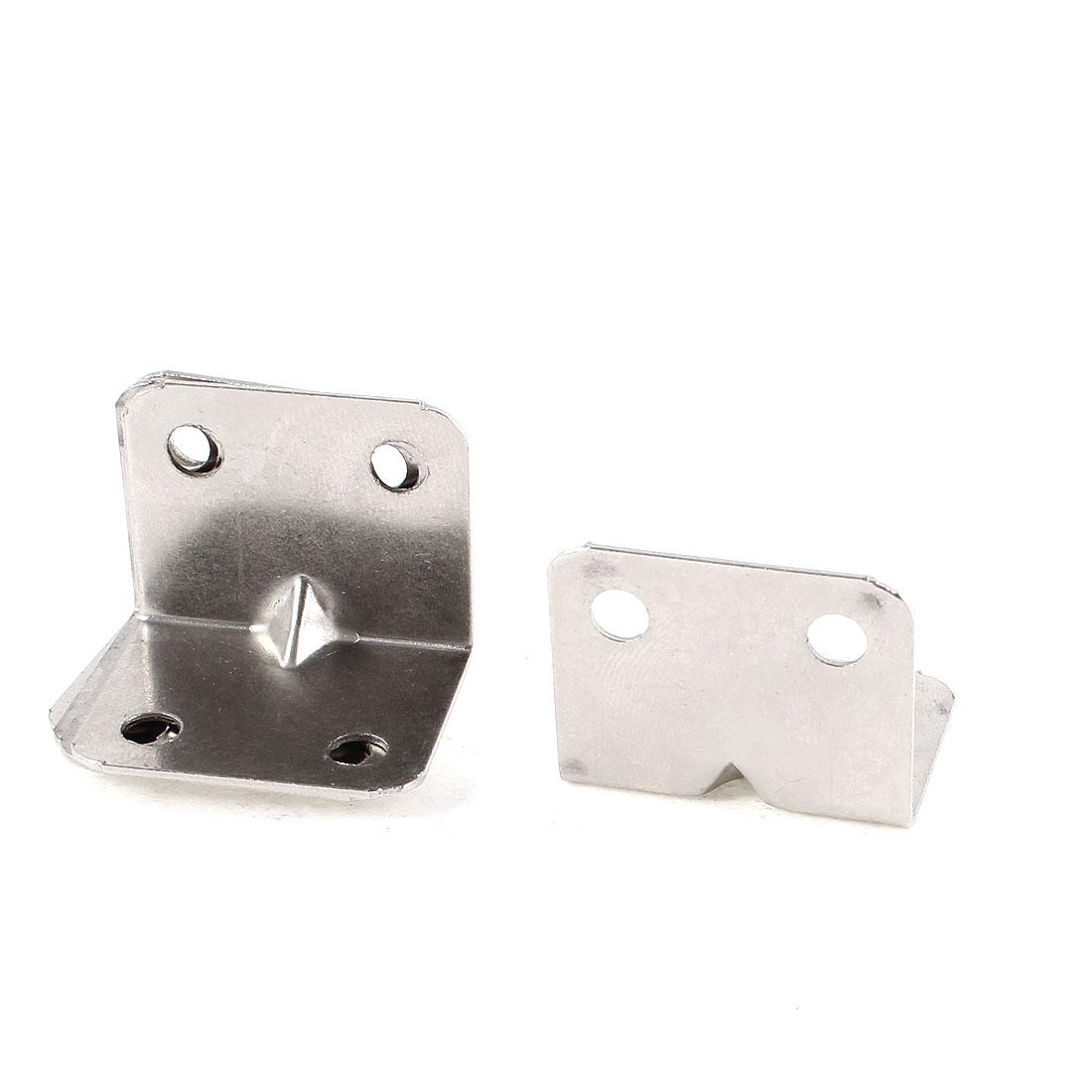 5 Pcs Furniture Metal Right Angle Corner Brace Shelf Brackets 30mmx25mm