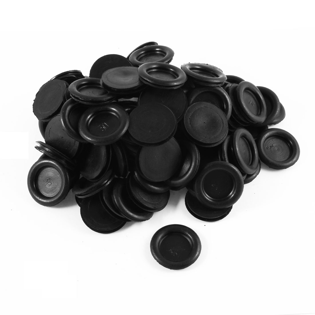 100PCS Black Wire Cable Protective Armature Rubber Grommets 30mm Diameter