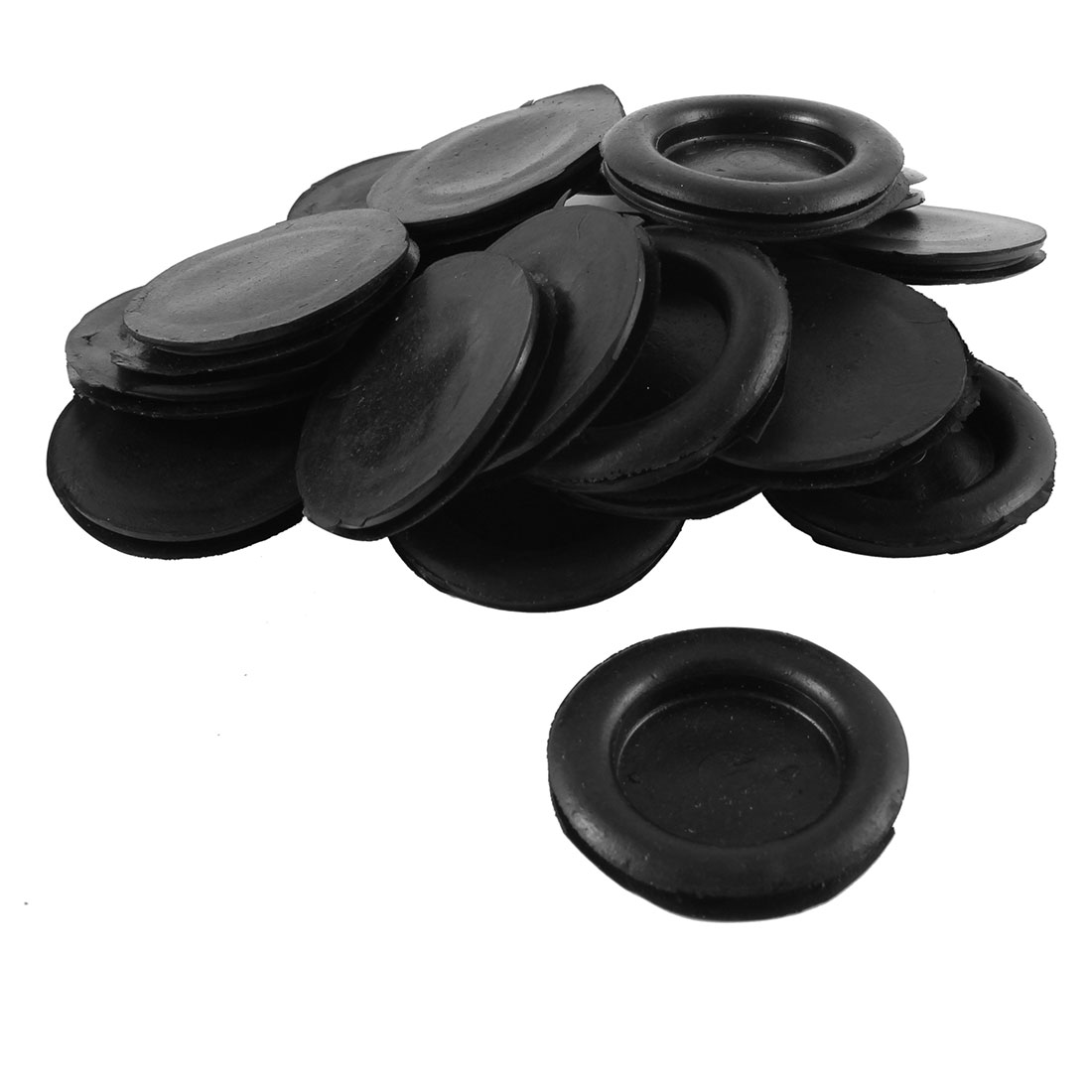 20PCS Black Wire Cable Protective Armature Rubber Grommets 40mm Diameter