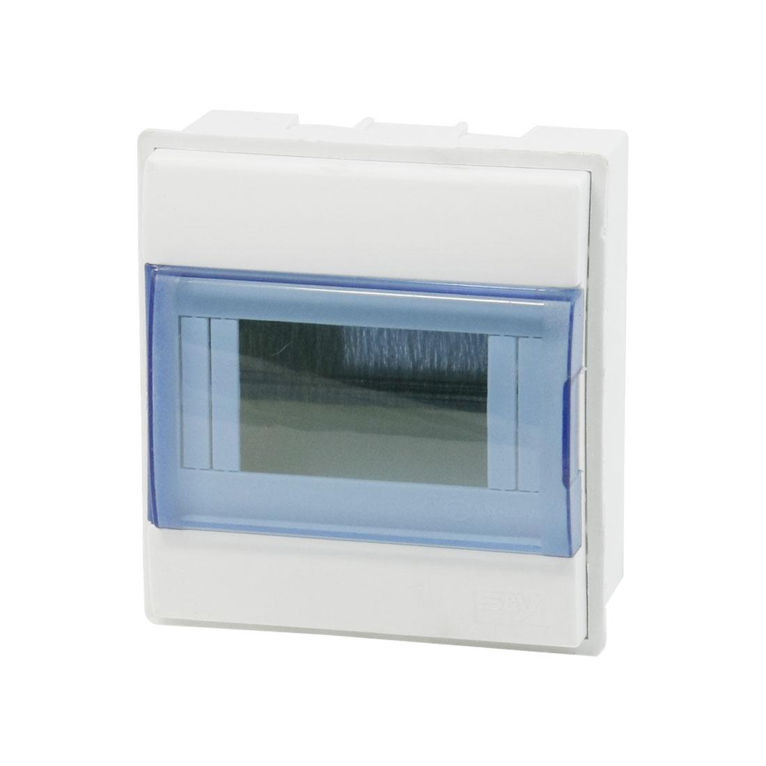 Clear Blue Flip Cap 4 Rectangular Way Power Distribution Box