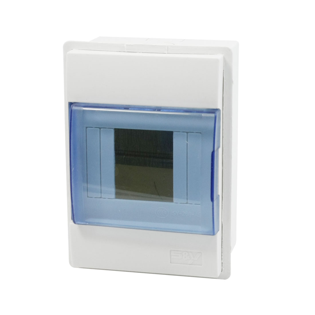 White Plastic Housing Cuboid Protective 2 Way Power Distribution Box