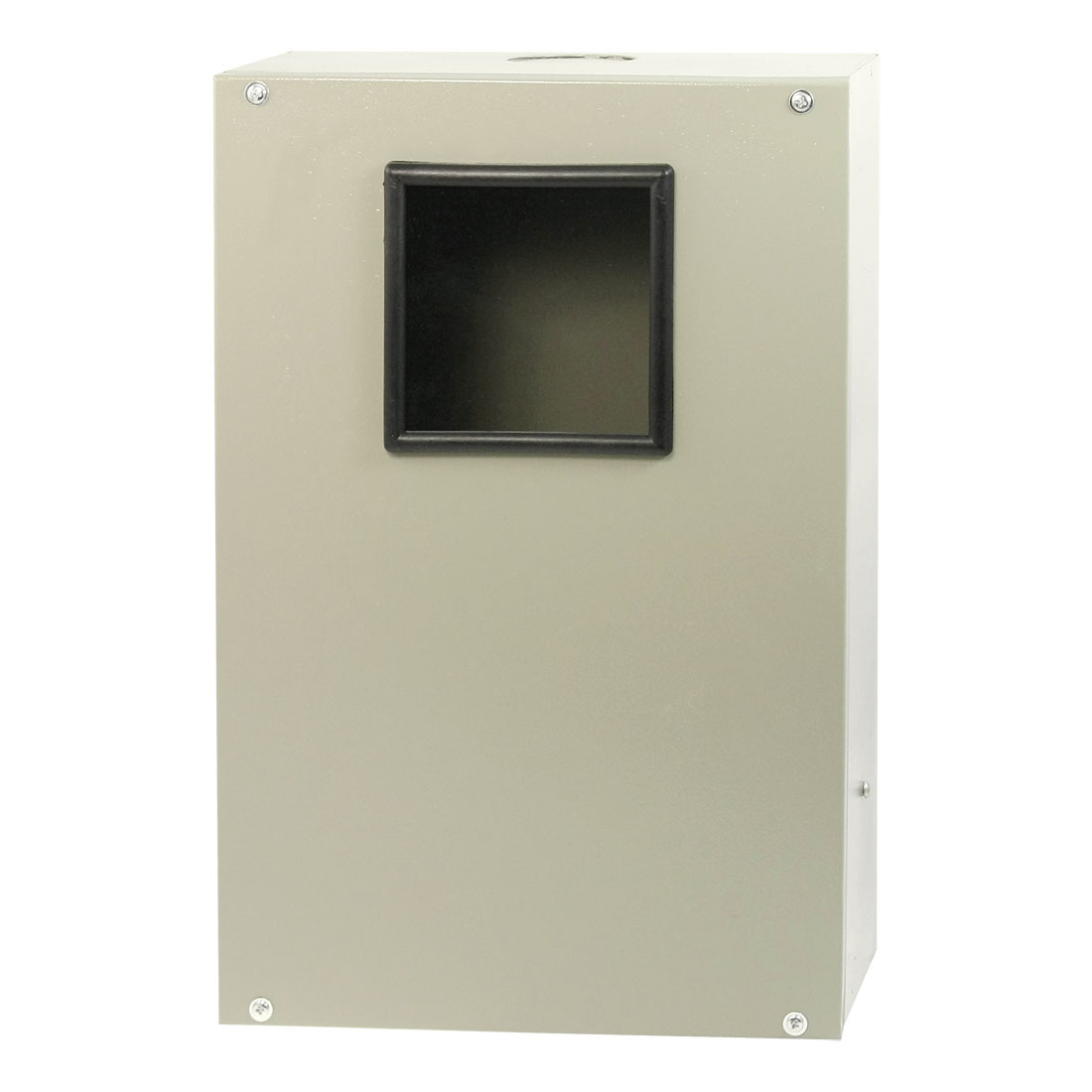 Gray Metal 3 Phase Clear Window Electricity Meter Box 38 x 25 x 14cm