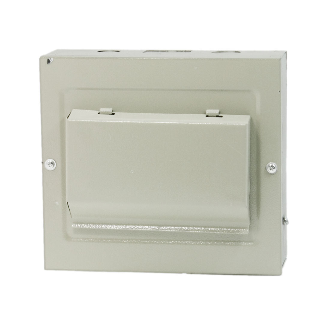 Rectangular Gray Metal Power Supply Distribution Box Guard Cover for Building