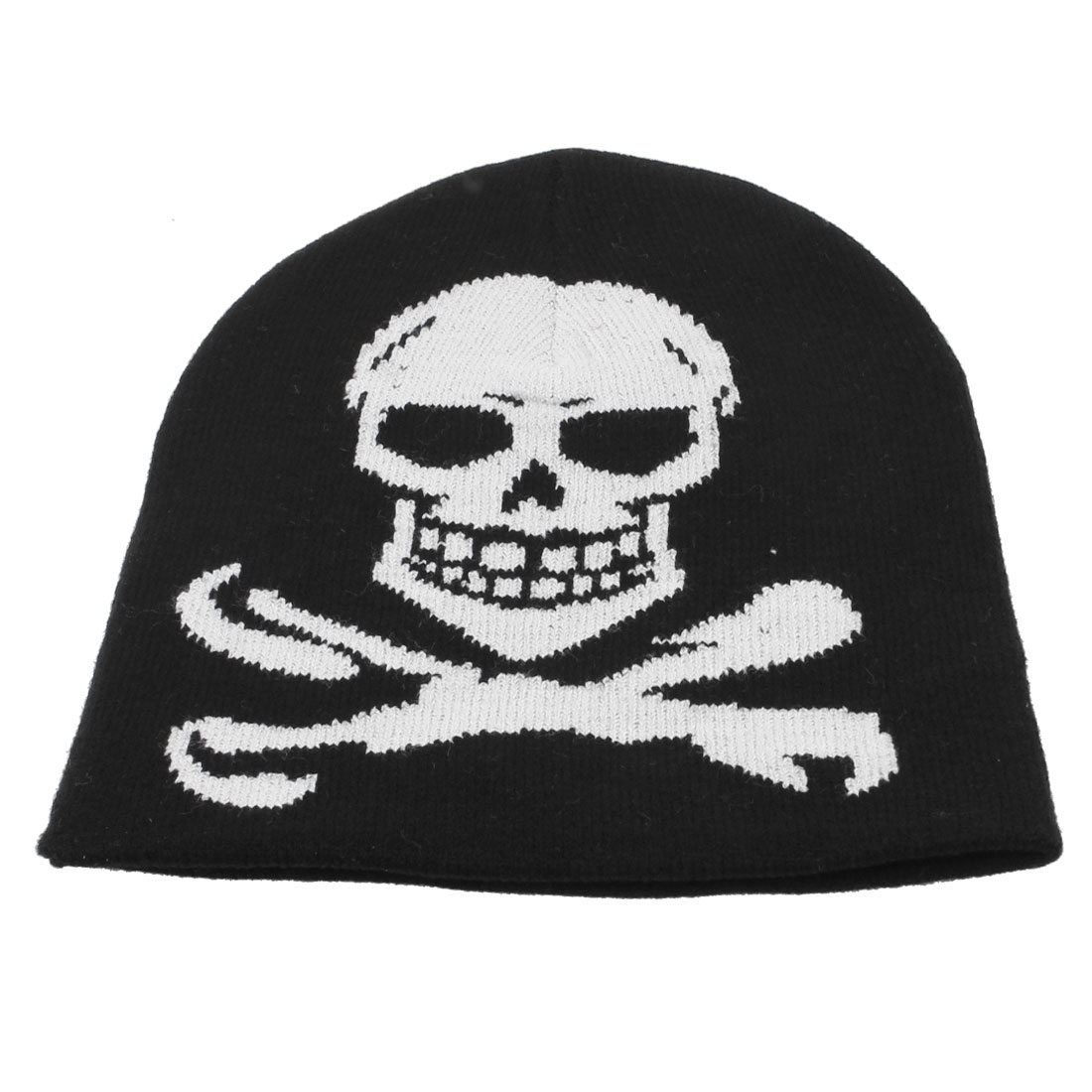 Skull Pattern Black White Outdoor Sport Winter Warmer Beanies Hat Cap