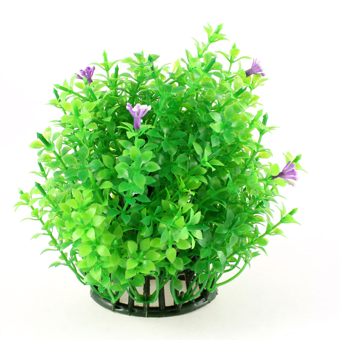 Purple Flower Accent Green Emulational Underwater Grass Decor for Aquarium