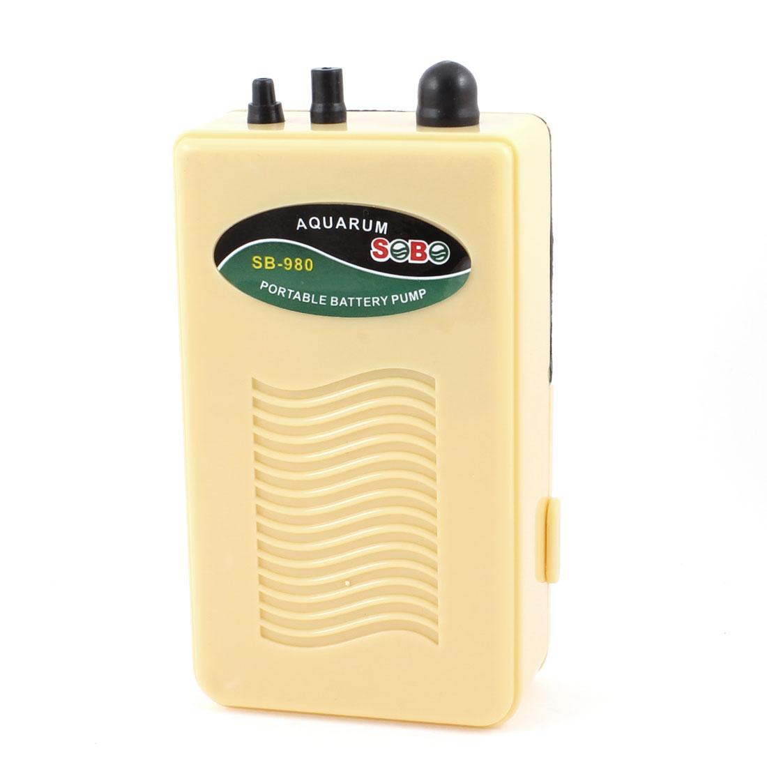 Portable Beige Plastic Case Portable Battery Powered Air Pump