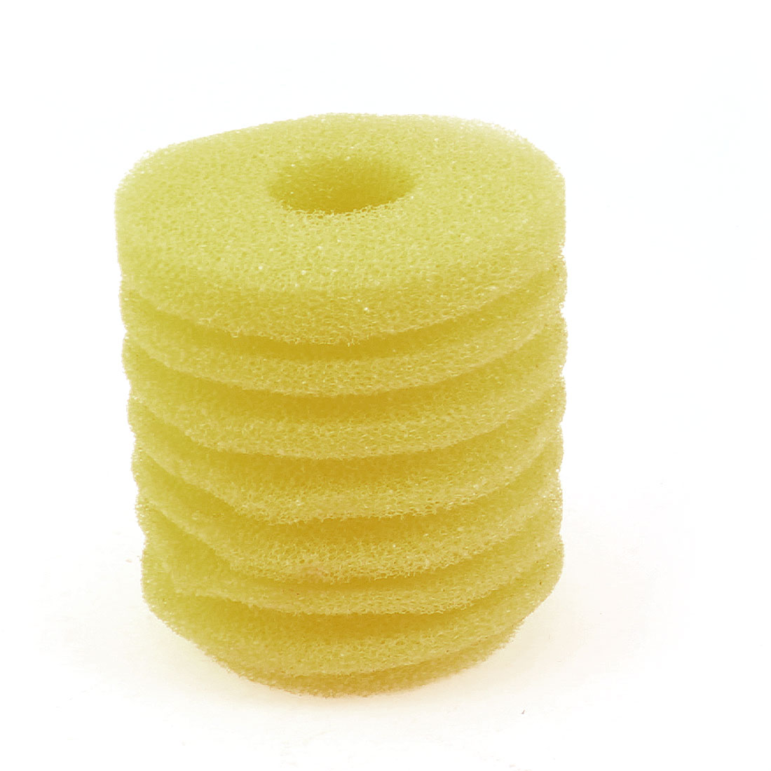 70mmx60mm Cylinder Biochemical Filter Sponge Yellow for Fish Tank Aquariums