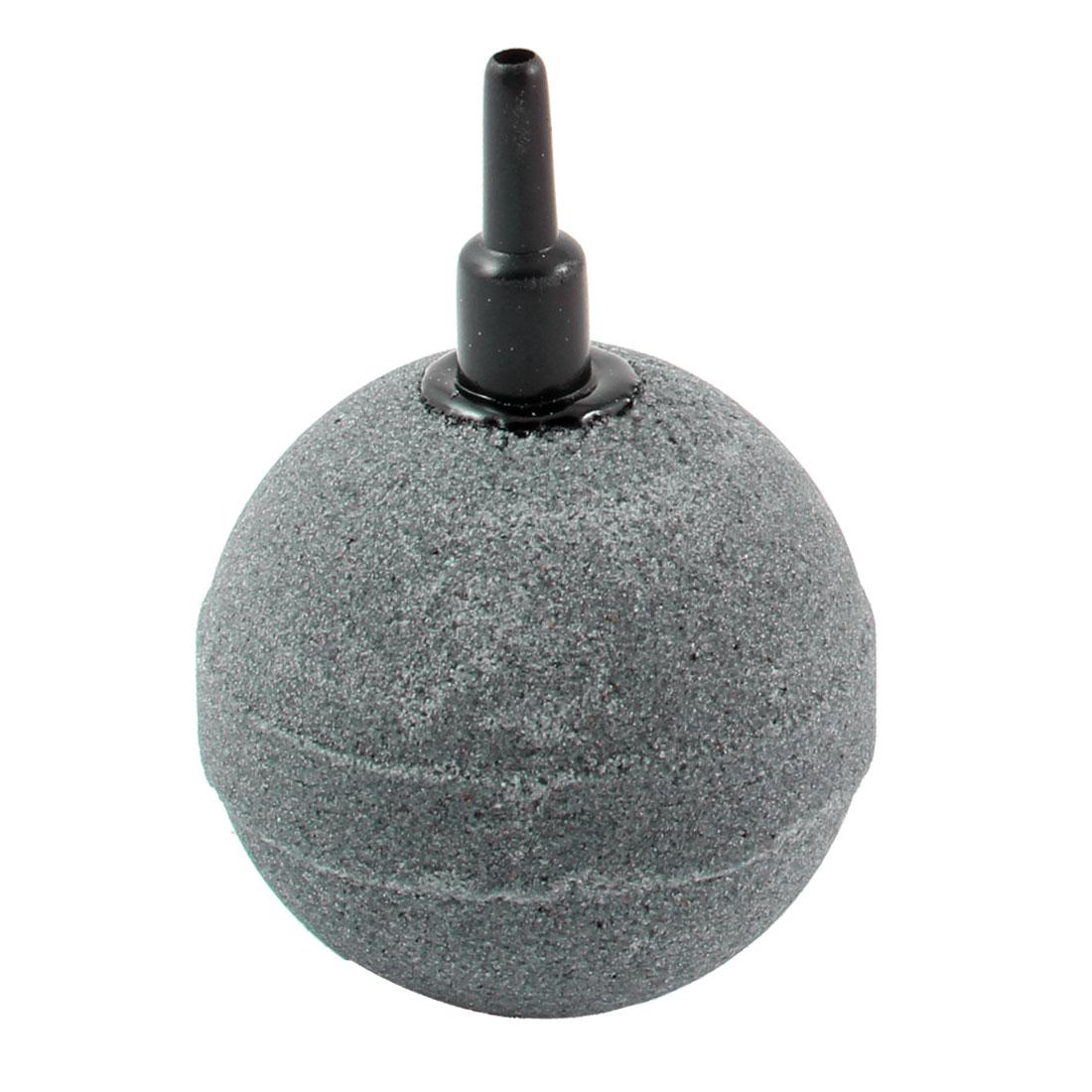 Dark Gray 45mm Sphere Shape Mineral Bubble Release Aquarium Air Stone