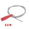 Red Handle Metal Spring Conduit Toilet Sewer Dredge Closet Auger Tool 2.2M Long