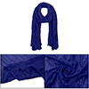 Women Semi Sheer NEWS Pleated Casual Scarf Royal Blue