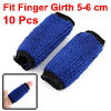 10 Pcs Volleyball Sports Neoprene Finger Sleeve Wrap Blue Black