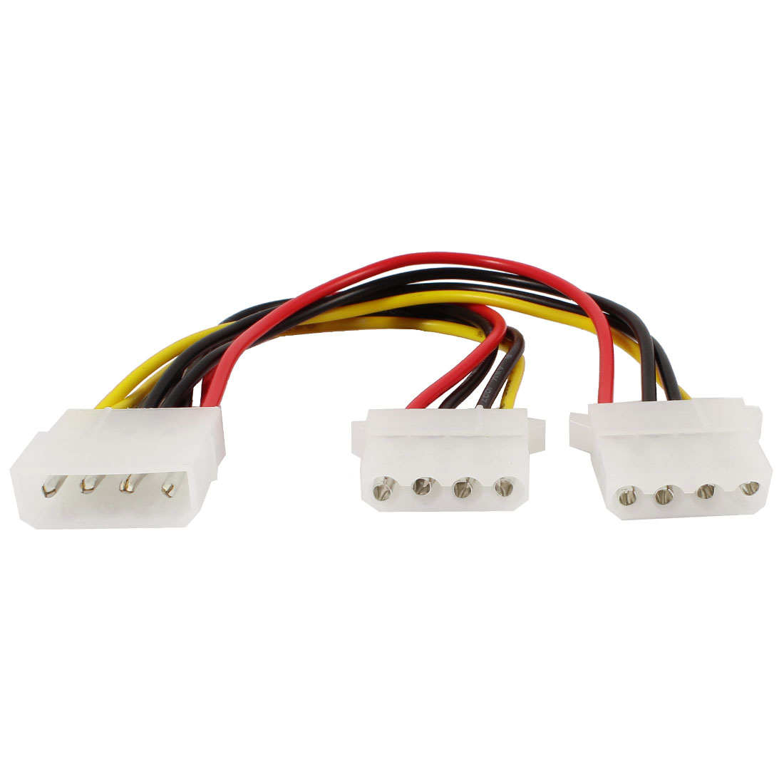 PC Computer IDE 4 Pin Male to Dual Female Converter Power Cable 20cm