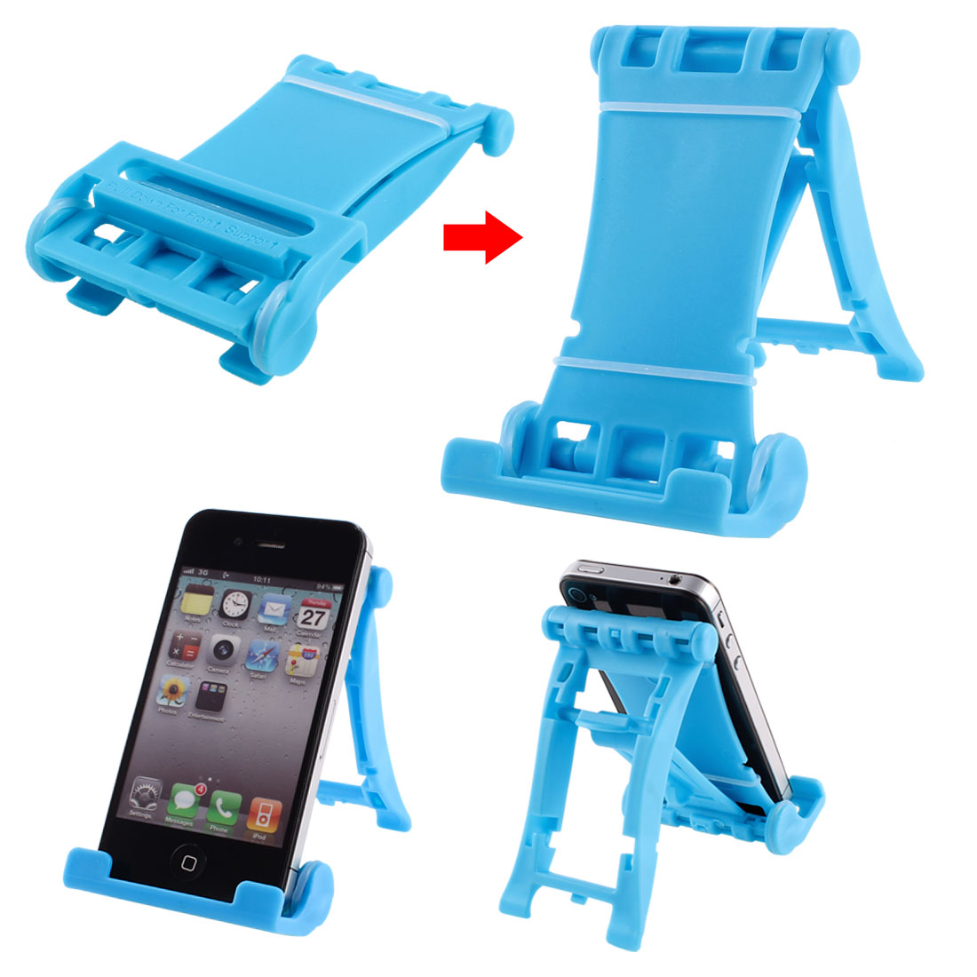 Sky Blue Folded Universal Portable Multi Stand Holder for E-Reader Tablets