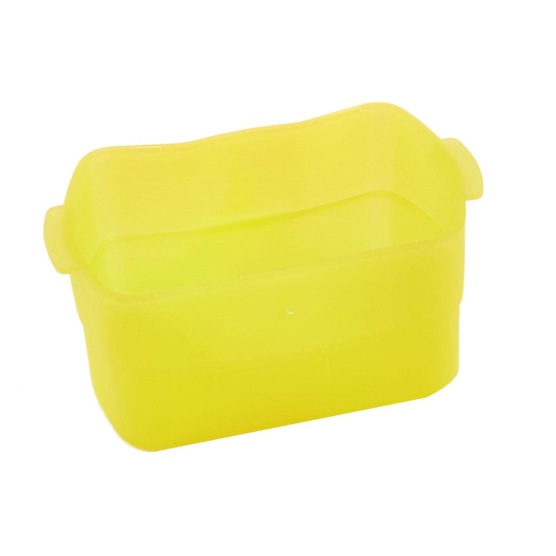 Yellow Flash Bounce Diffuser Camera Cover Cap Box for Canon 580EX II
