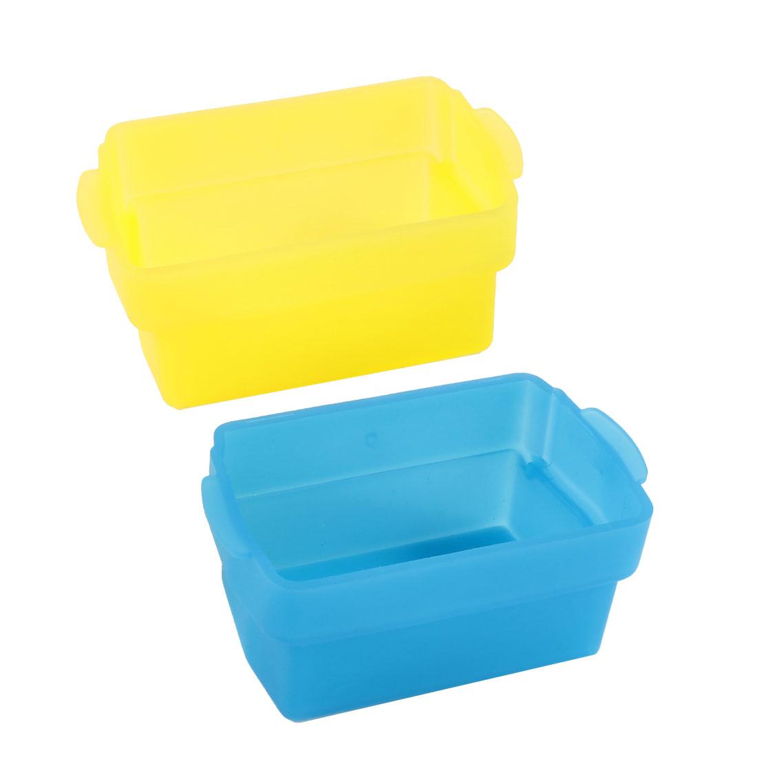 2 Pcs Blue Yellow Digital Camera Bounce Flash Diffuser for Nikon SB600