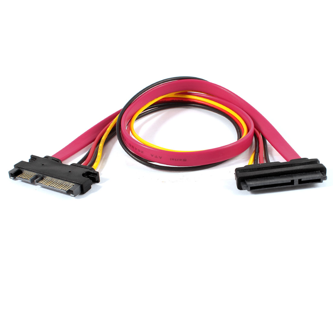 SATA 7+15P Male to SATA 7+15P Female Adapter Y Splitter Power Cable