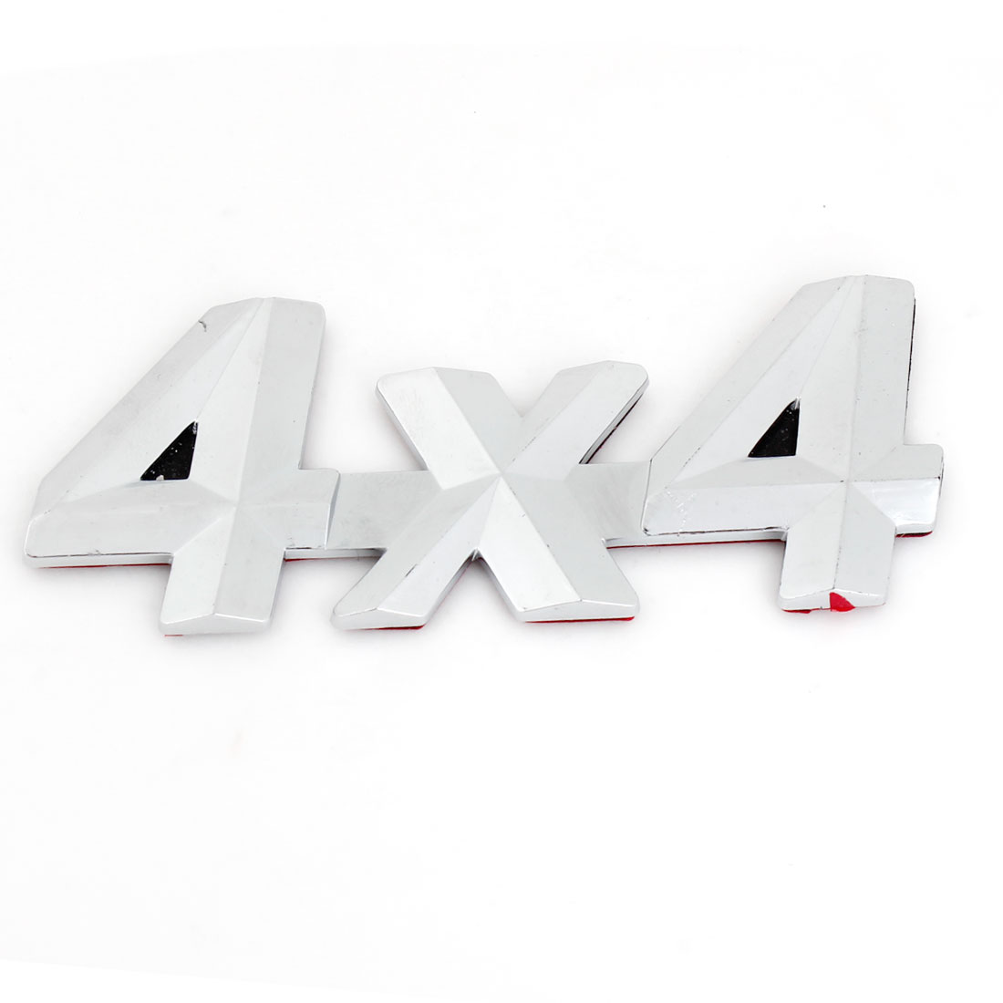 Silver Tone Plastic 4x4 Design Self Adhesive Car Automobile Badge Stickers
