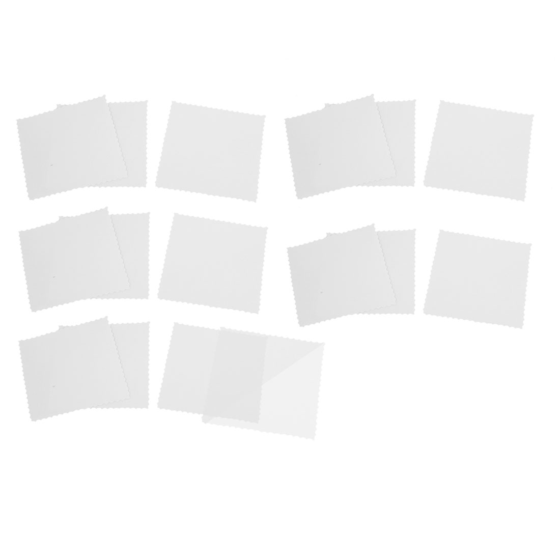 15PCS 9.2cm Square Shaped Car Window Signal Clear Cling Static Sticker Decor