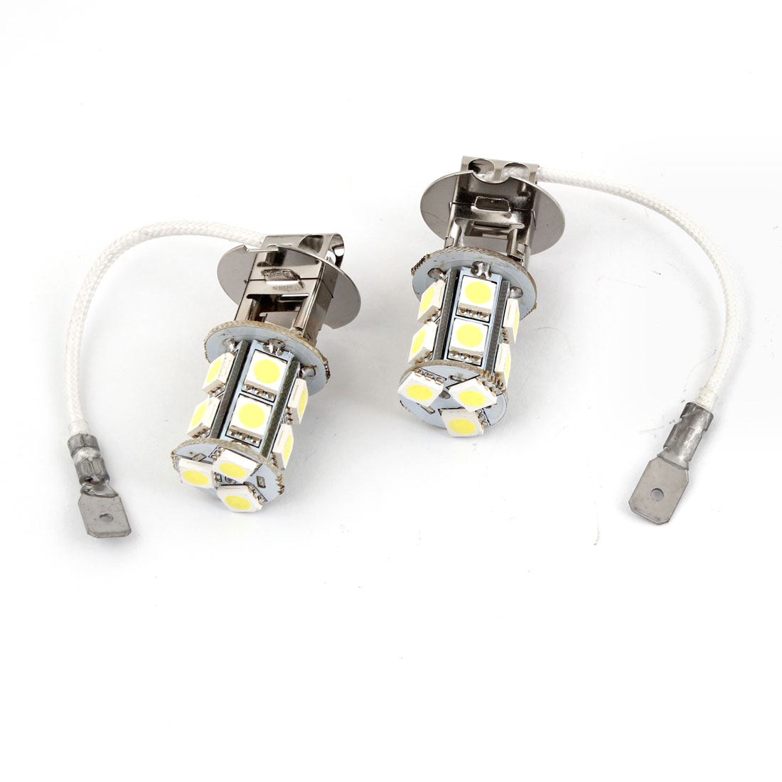 2PCS H3 5050 SMD 13 White LED Car Vehicle Fog Driving Light Lamp DC 12V