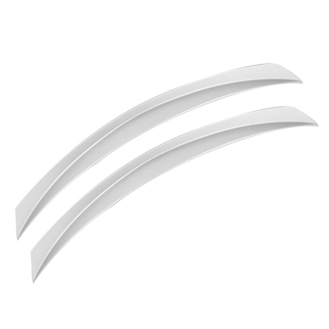 Truck Car Decorative Wheel Arch Eyebrow Strip Decor Silver Gray 2 Pieces