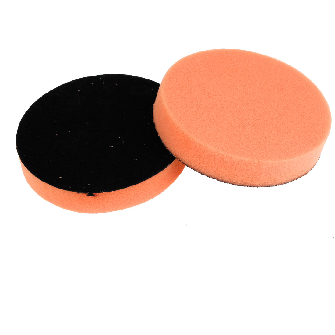 "2PCS Black Orange Rounded Sponge Polisher Scourer Tool 5"" Diameter for Car"