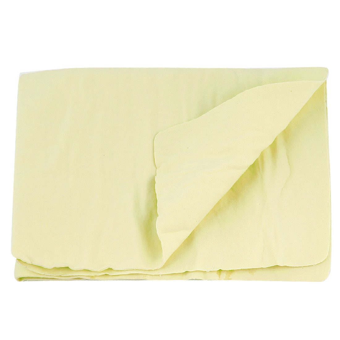 Vehicle Furniture Glass Cleaning Chamois Cham Light Yellow Soft Rectangle Towel