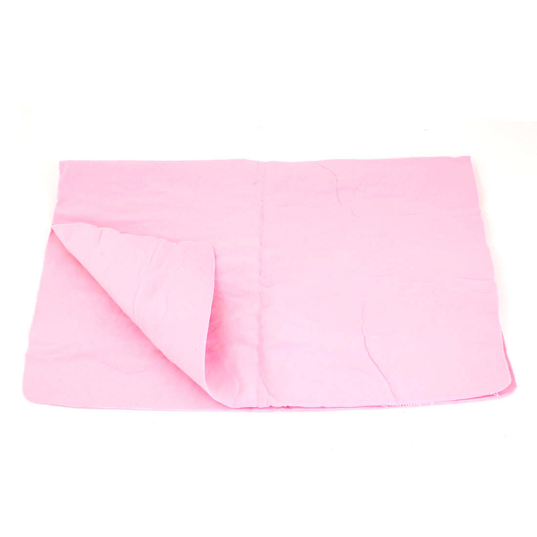 Pink Synthetic Chamois Cleaning Cham Towel 41cm x 32cm for Car Furniture