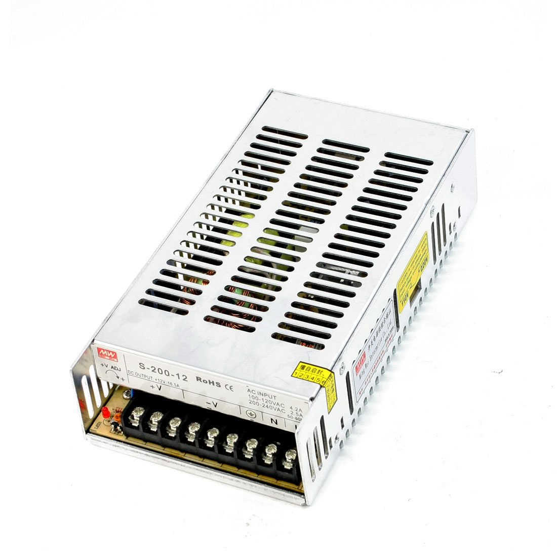 100-120VAC DC12V 16.5A 200W Power Supply Converter Adapter for LED Illumination