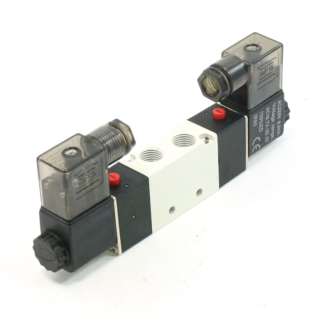 AC 220V 6.0VA Single Coil 2 Position 5 Ports Electric Solenoid Valve