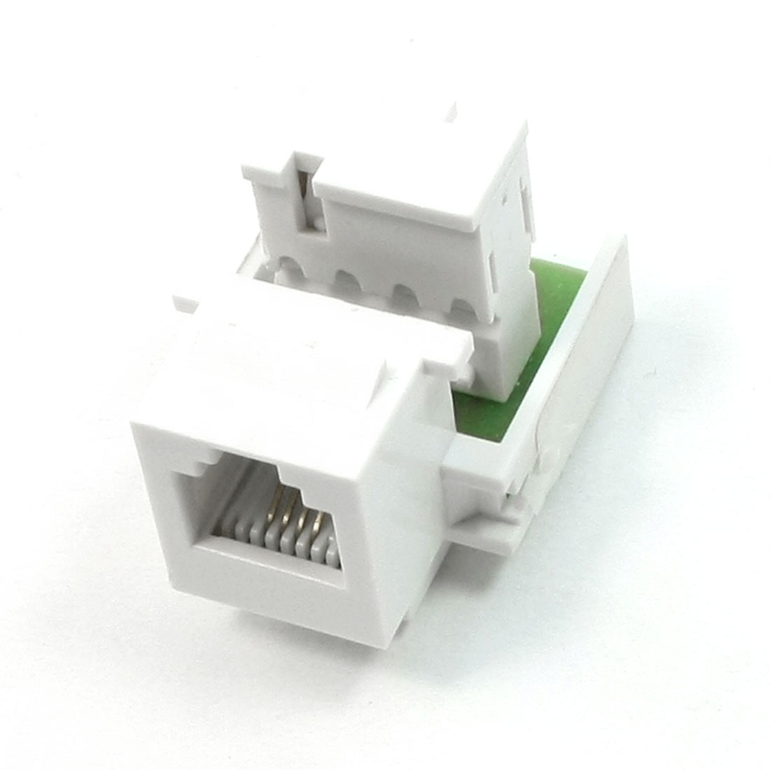 LAN ADSL Network Devices Connecting White RJ11 CAT3 Module
