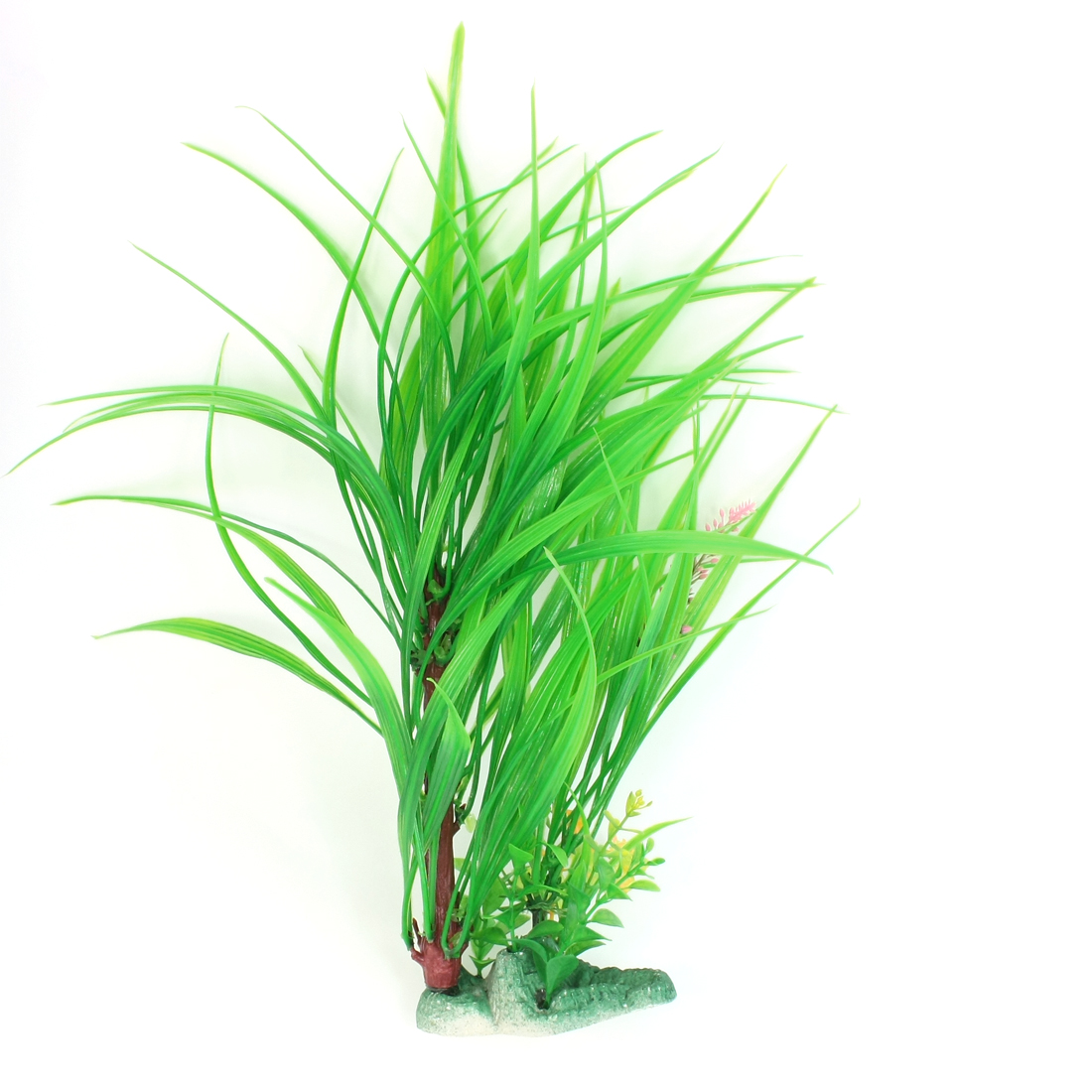 "15.8"" Height Fresh Green Plastic Flower Accent Aquatic Water Grass for Fish Tank"