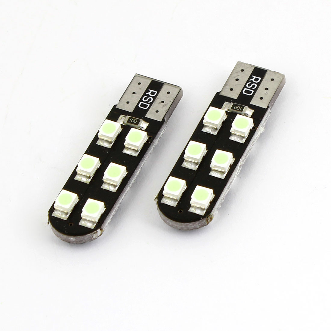 Pair T10 W5W 12 Ice Blue 1210 SMD LED Turn Signal Light Bulb for Auto Car
