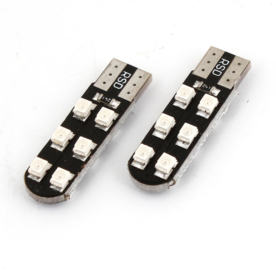 Pair T10 W5W 12 Red 1210 SMD LED Turn Signal Light Bulb for Auto Car