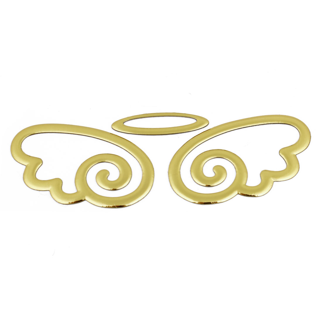 Auto Car 3D Angel Designed Self Adhesive Sticker Gold Tone
