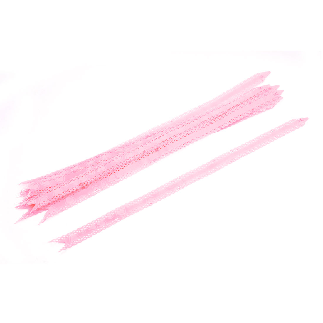 10 Pcs 18mm Width DIY Decorative Pull Flower Ribbon Gift Wrap Pink