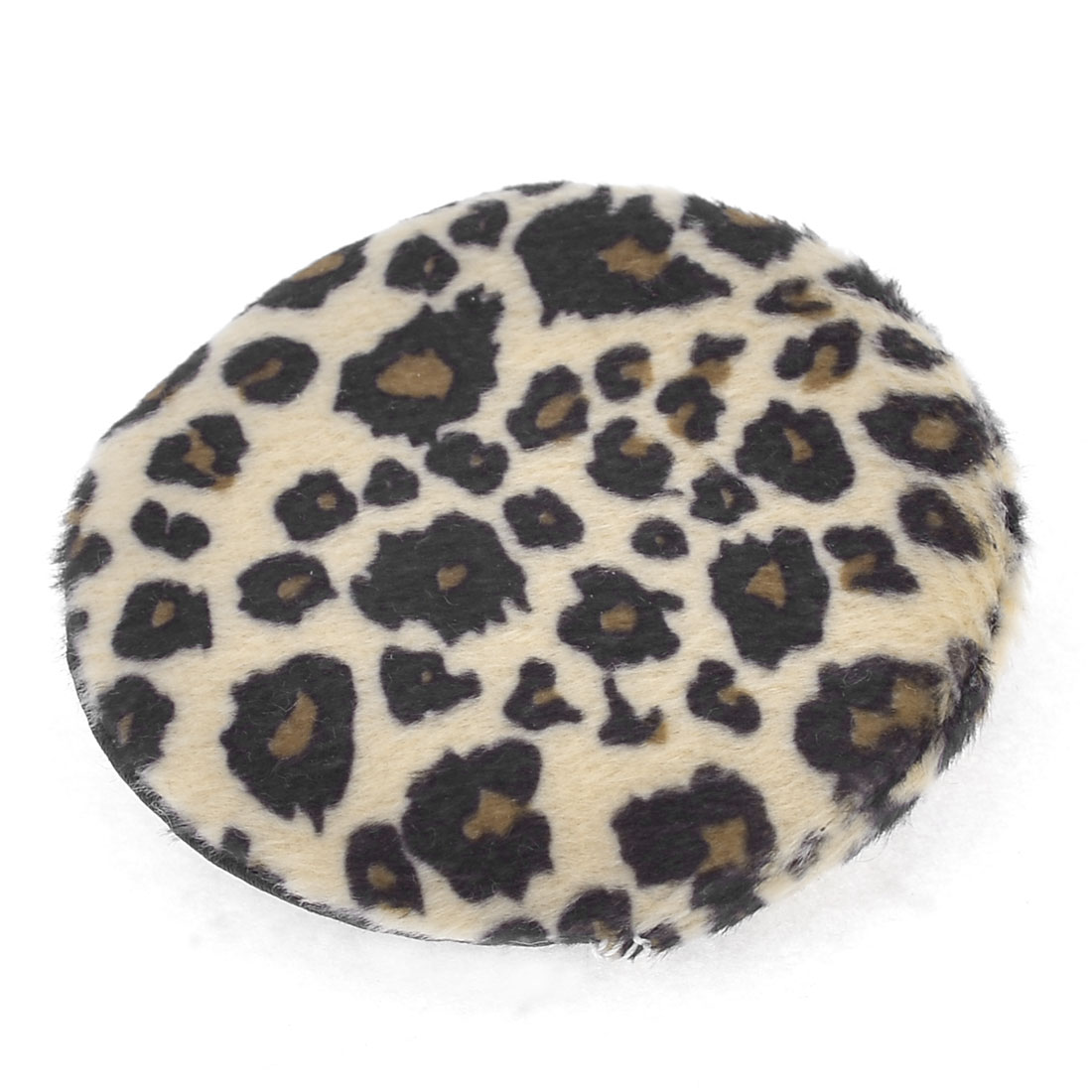 Beige Brown Black Round Leopard Soft Sponge Facial Cosmetic Powder Puff