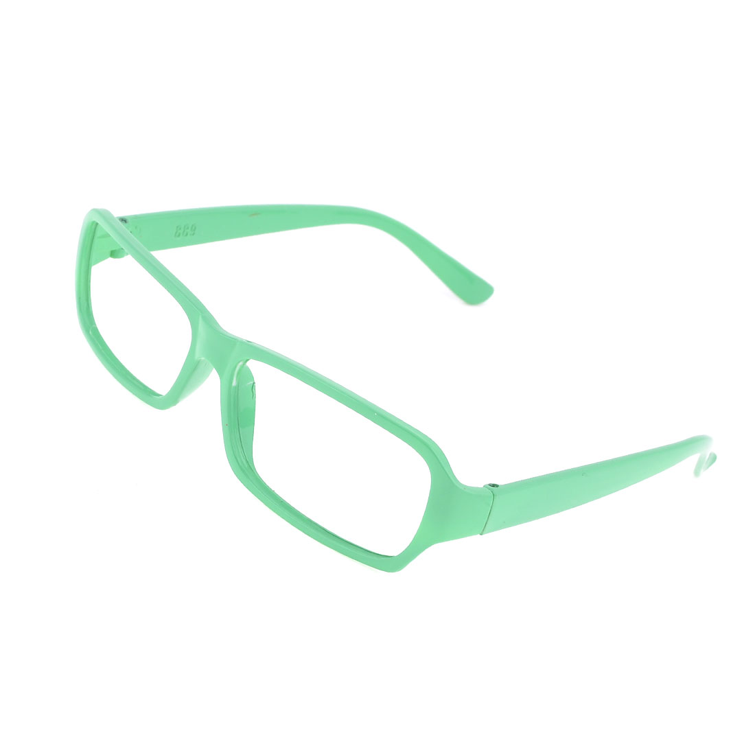 Pale Green Plastic Full Rim No Lens Design Eyeglass Frame for Lady Women