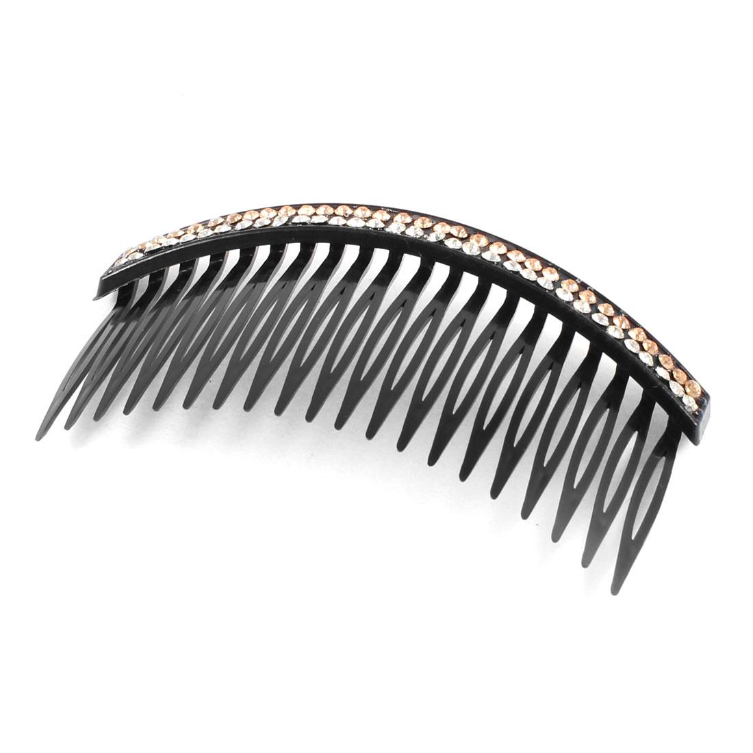 Black Plastic Comb Shape 20 Teeth Hair Clip Clamp for Ladies