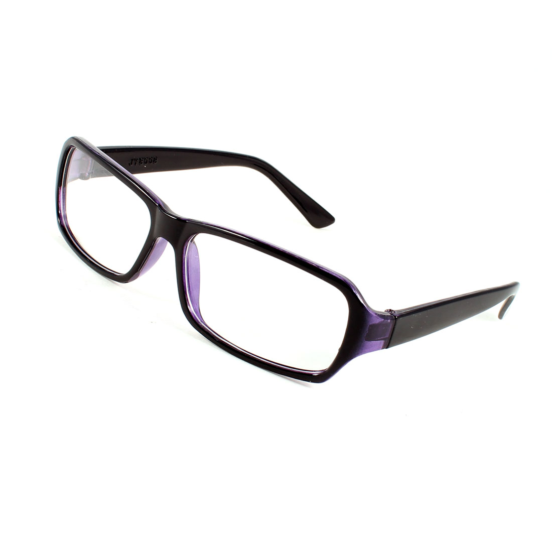 Women Men Black Frame Clear Lens Plain Glasses Eyeglasses