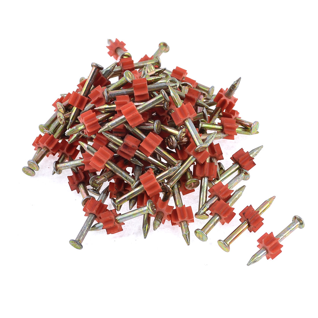 90 Pcs 2.9mm Dia Shank 30mm Long Power Hammer Drive Pins Fasteners
