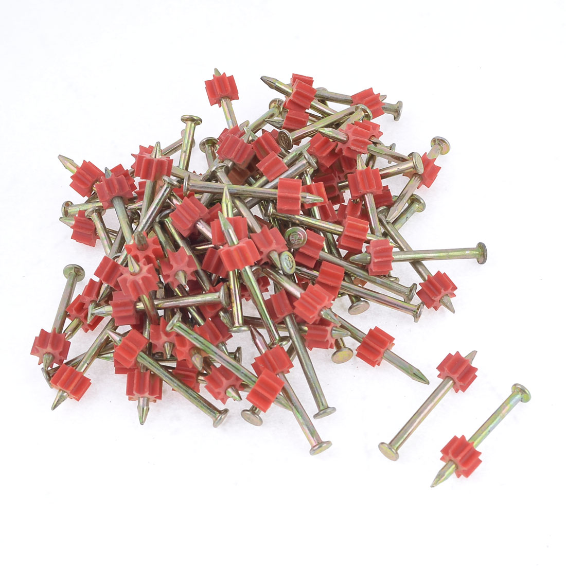 90 Pcs 2.8mm Dia Shank 38mm Length Power Hammer Drive Pins Fasteners