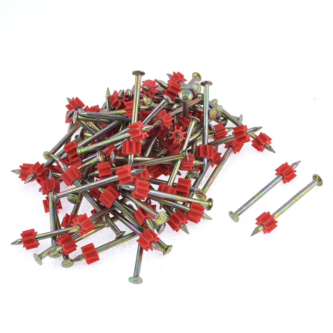 90 Pcs 3.3mm Dia Shank 50mm Long Power Hammer Drive Pins Fasteners