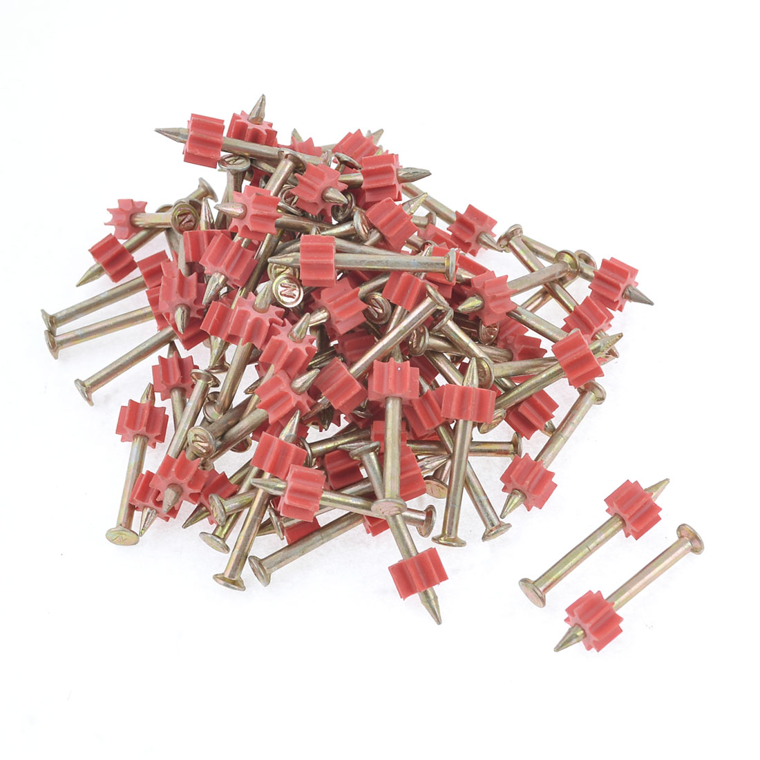 90 Pcs 3mm Dia Shank 34mm Length Power Hammer Drive Pins Fasteners