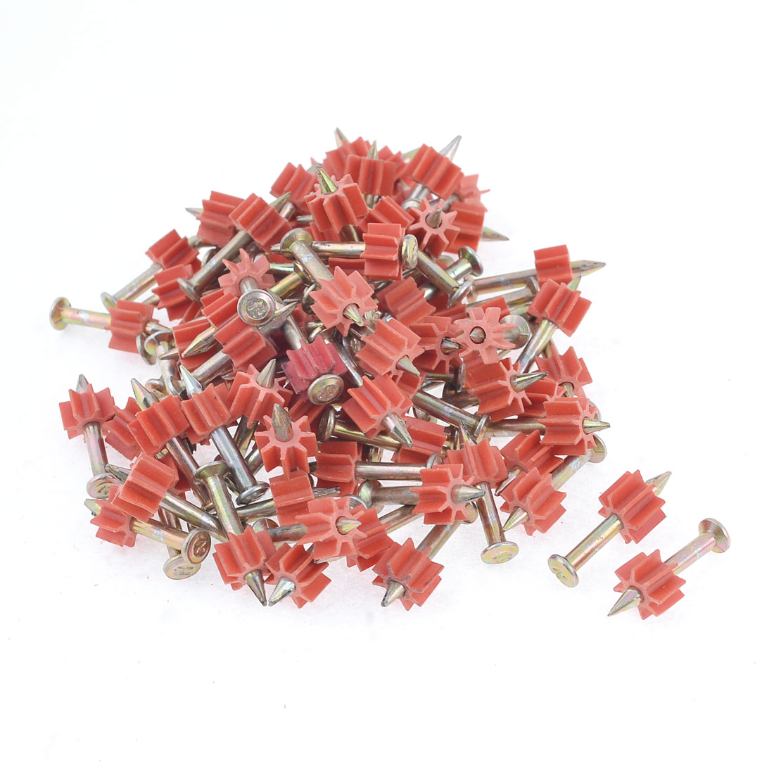 90 Pcs 2.8mm Dia Shank 25mm Long Power Hammer Drive Pins Fasteners