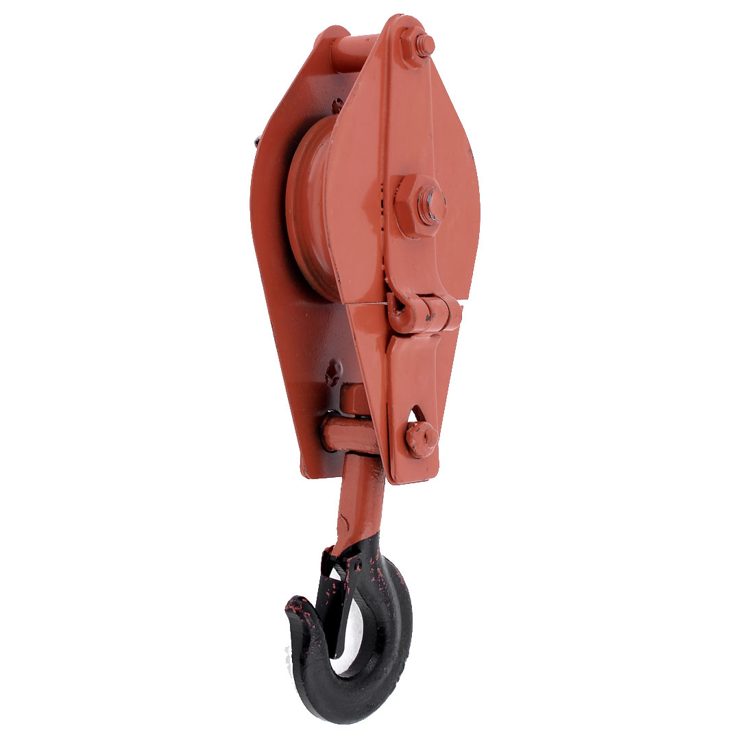 Red 0.5 Ton Limit Construction Industrial Tool Spring Hook Rope Pulley